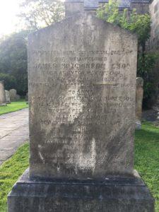 Gravestone at Holy Cross Church, Ryton