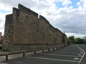 Section of wall near Neville Tower