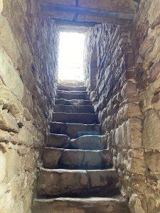 Stone steps inside the Keep