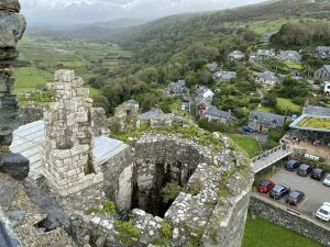 The view from the top of the Gatehouse at Harlech Castle