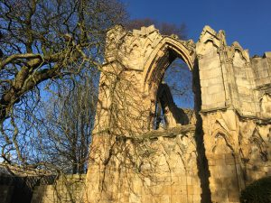 Arched window at St Mary's Abbey