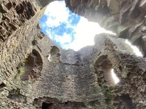 Inside the Keep at Skenfrith Castle, Wales