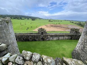 View from Beaumaris Castle, Anglesey, Wales