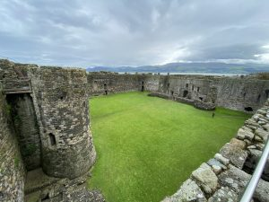 Inner ward at Beaumaris Castle, Anglesey, Wales