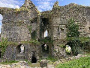 Ruins of a tower at Haverfordwest Castle