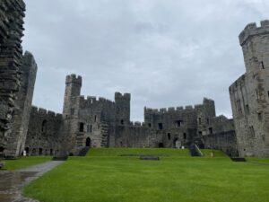 Upper Ward at Caernarfon Castle, Wales